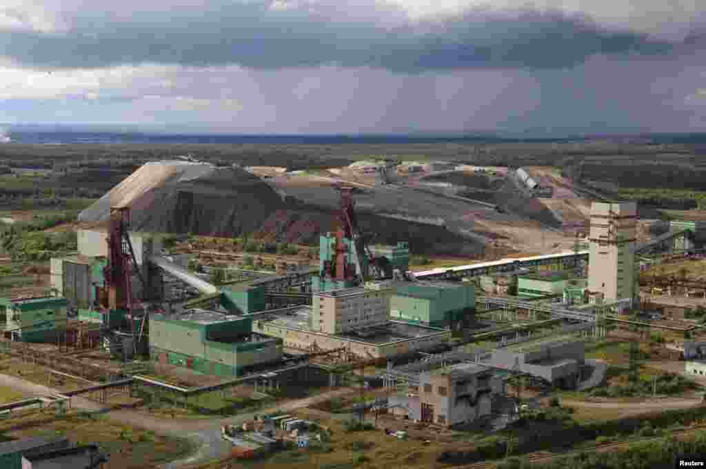 An aerial view of a Uralkali potash mine near Berezniki. The Uralkali company has a market value of some $14 billion.