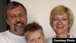 Ирина Халип с мужем и сыном