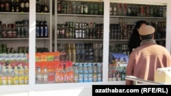 A ban on alcohol ahead of the Asian Indoor and Martial Arts Games saw strong drink disappear quickly from the shelves of stores around Ashgabat at the end of August. (file photo)