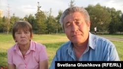 Диастың ата-анасы Нина Нағызқұлова мен Боранбай Ақшалов. Астана, 2014 жылдың тамызы.