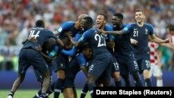 Франция құрамасы жеңіске жеткен сәт. 15 шілде 2018 жыл.