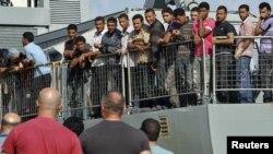 Илегални мигранти.