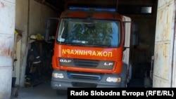 Противпожарно возило во Куманово.