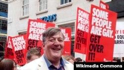 Стивен Фрай на WorldPride-2012 в Лондоне