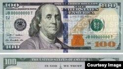 Янги 100 долларнинг кўриниши
