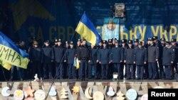 Львівська міліція на сцені Євромайдану, 21 лютого 2014 року