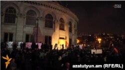 Pamje nga demonstrata e sotme në Erevan
