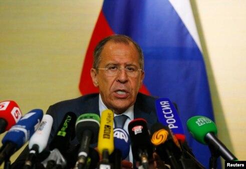 Сергей Лавров на пресс-конференции после переговоров в Женеве
