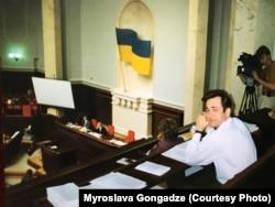 Георгій Гонгадзе в ложі преси Верховної Ради України (архівне фото)