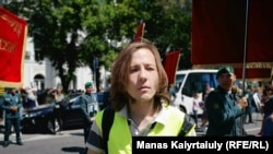 Журналист сайта Vlast.kz Данияр Молдабеков. Алматы, 9 мая 2019 года.