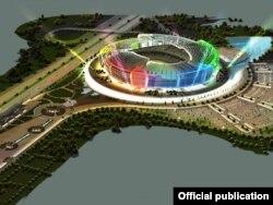 Рисунок проекта стадиона в Бёюк Шоре