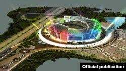 Bakı Olimpiya Stadionunun görünüşü