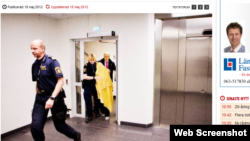 Швед полициячилари Нодира Аминова шахсиятини ҳимоя қилиш мақсадида¸ 2012 йилги маҳкамага уни юзига ниқоб тутилган ҳолда олиб келган эди.