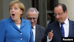 Германската канцеларка Ангела Меркел и францускиот претседател Франсоа Оланд