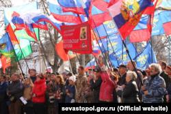 Митинг в поддержку Владимира Путина в Крыму, 2018 год