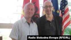 Градоначалниците на општините Дебар од Македонија и Иф од Франција, Аргетим Фида и Жан Пол Гошар во Дебар.