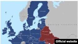 Карта Евросоюза и стран «Восточного партнерства»