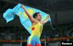 Екатерина Ларионованың қола жүлдеге таласта қарсыласын жеңген сәті. Бразилия, Рио-де-Жанейро, 18 тамыз 2016 жыл.