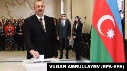 İ.Əliyev səs verir. 11 aprel 2018