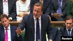 British Prime Minister David Cameron accepted defeat for the government's proposed measure on possible military strikes on Syria.