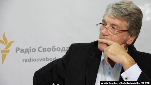 Виктор Ющенко в киевской студии Радио Свобода. 2012 год