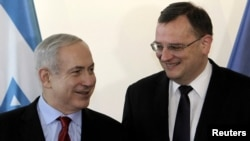 Kryeministrat e Izraelit dhe Çekisë, Benjamin Netanyahu dhe Petr Necas.