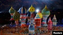 Фрагмент церемонии открытия Олимпиады в Сочи. 7 февраля 2014 года