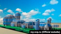 Макет музея истории космонавтики