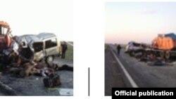 Казакстан -- жол кырсыгынан бир көрүнүш. 8-май, 2012.