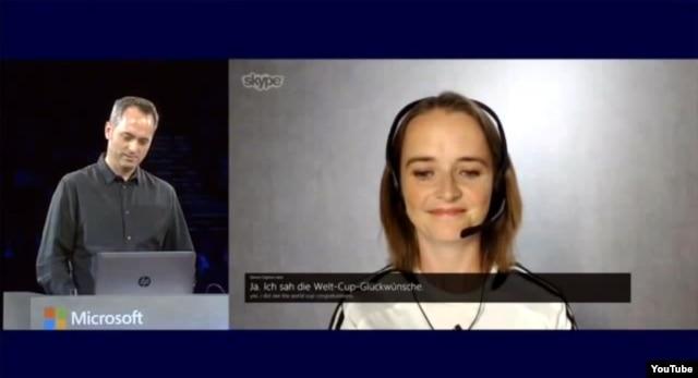 تصویری از ویدئوی نمایش قابلیتهای مترجم اسکایپ