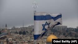 Сьцяг Ізраілю ў Ерусаліме