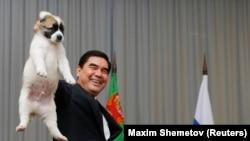 Президент Туркменистана Гурбангулы Бердымухамедов и Алабай (иллюстративное фото)