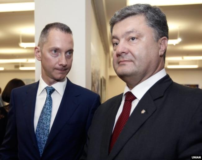 Петро Порошенко та Борис Ложкін