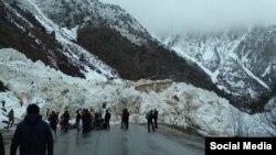 Бишкек-Ош жолундагы кар көчкү. 15-март, 2018-жыл.