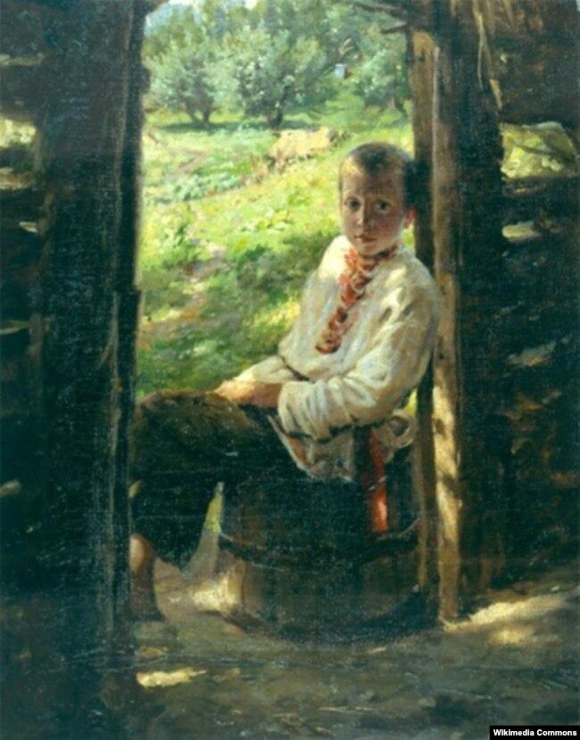 Портрет українського хлопчика авторства Миколи Ґе в Національному музеї «Київська картинна галерея»