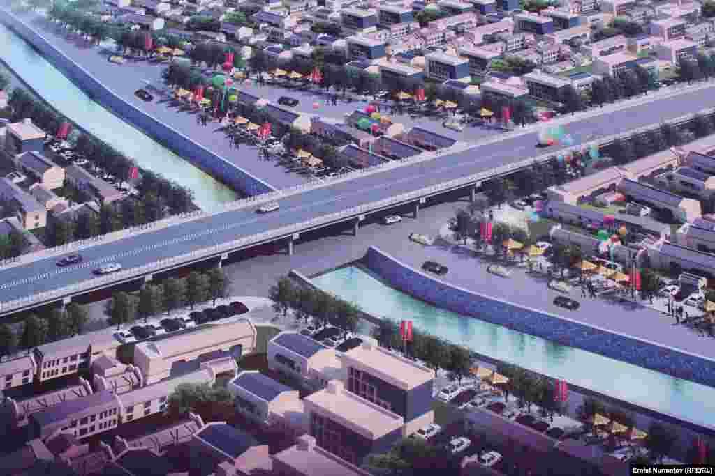 Макет будущего моста