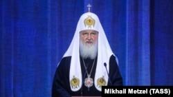 Патриарх Московский и всея Руси Кирилл во время выступления в Кремле, 31 января 2019 г.
