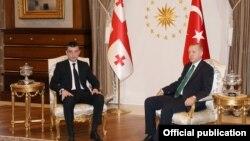Георгий Гахария и Реджеп Тайип Эрдоган