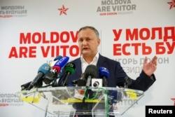 Novi predsjednik Moldavije Igor Dodon na press konferenciji u ponedjeljak 14. novembra 2016.