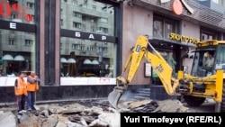 Замена асфальта на плитку в Москве