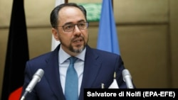 Afghan Foreign Minister Salahuddin Rabbani (file photo)