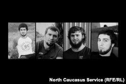 Узданов, Магомедов, Махаев, Джамалутдинов (слева направо)