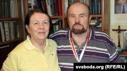 Леанід Дайнека разам з жонкай Зінаідай