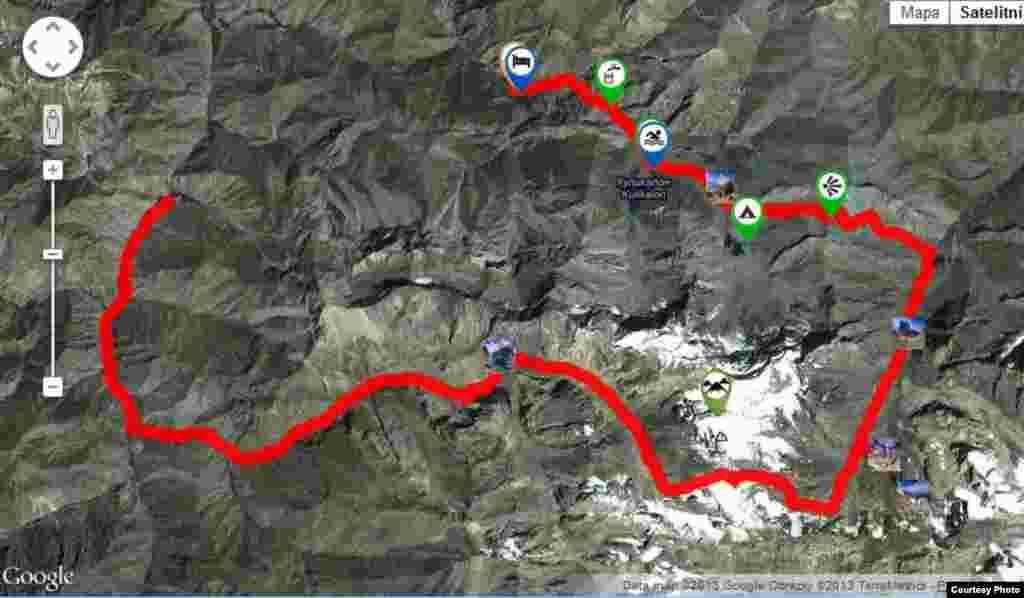 Карта путешествий Чабела