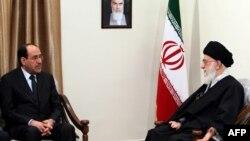المالكي يلتقي خامنئي -طهران23نيسان