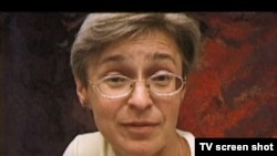 "Anna Politkovskaya, o imagine din filmul Marinei Goldovskаyа ""The bitter taste of freedom"""