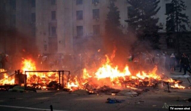 Одесса, около Дома профсоюзов, 2 мая 2014 года