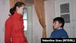 Valentin Bunescu şi diriginta sa Nadia Colesnic