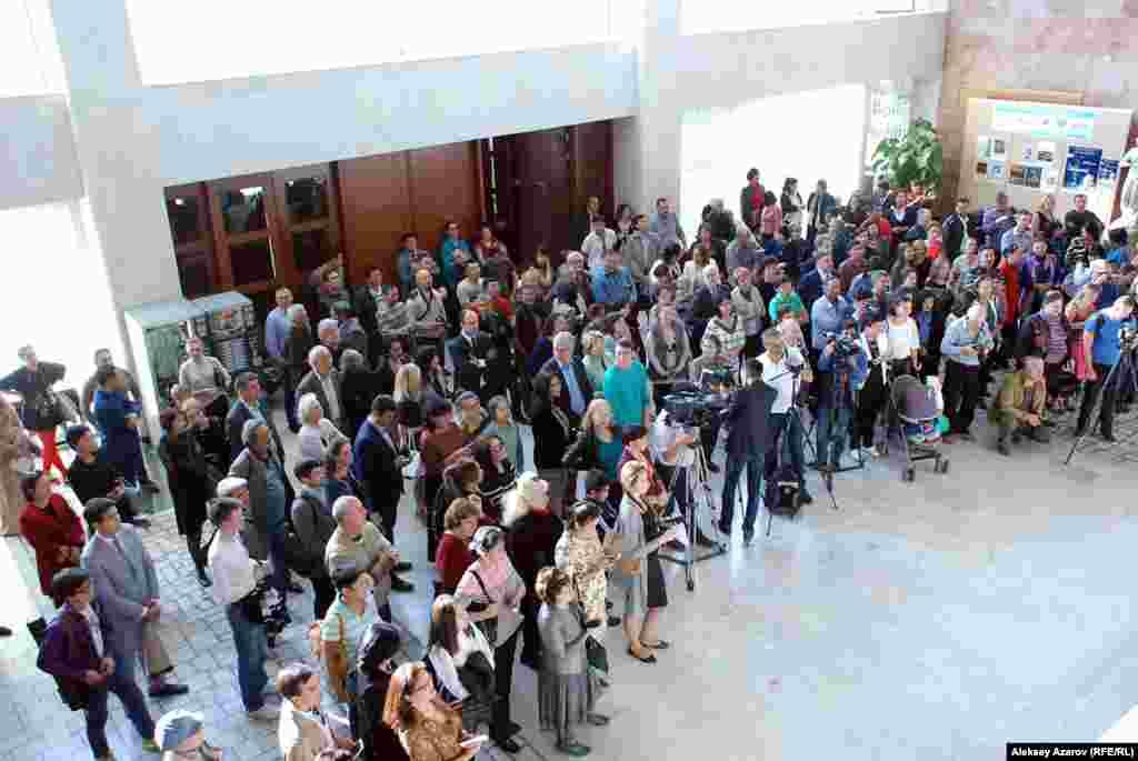 Торжественная часть открытия персональной выставки Зураба Церетели.