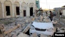 Pamje e shkatërrimeve në qytetin Ramadi në Irak